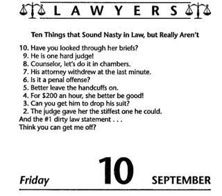 10 Nasty Lawyer Sayings